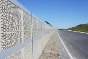 Highway-sound-barrier-wall